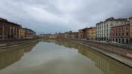 Time Lapse of Arno River and Chiesa di Santa Maria della Spina church video