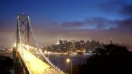Time lapse of Bay Bridge and San Francisco video