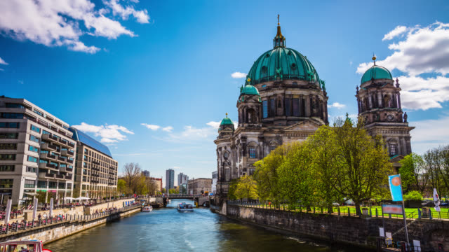 Time lapse of Berlin Cathedral. German Berliner Dom - Germany video