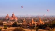 Time lapse of Buddhist Temple at Bagan. Myanmar (Burma) video