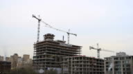 Time lapse of building under construction video