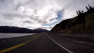 Time lapse of car driving POV video