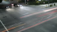 time lapse of cars at an intersection video