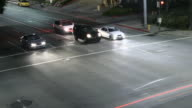Time lapse of cars stopping at intersection video
