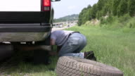 Time lapse of changing a flat tire video