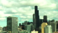 Time lapse of Chicago Skyline and Sears Tower video