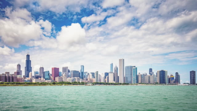 Time lapse of  Chicago Skyline video