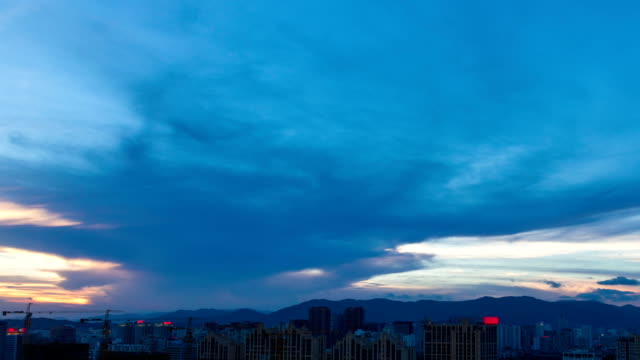 HD - Time lapse of cityscape at dusk video