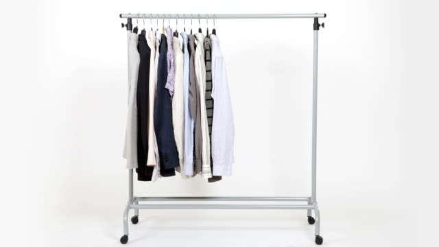 Time lapse of clothes on rack video