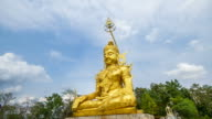Time Lapse of cloud moving over the Buddha Image in Thailand video