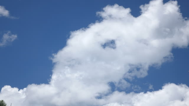 Time Lapse of Clouds Against Blue Sky video
