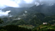 Time Lapse of Clouds Covering Sapa Town, Vietnam video