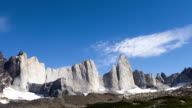 HD: Time Lapse of Clouds Forming Over Cuernos del Paine video