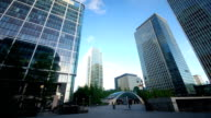 Time lapse of commuters at Canary Wharf Station London UK video