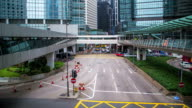 Time lapse of commuters at the center of Hong Kong video