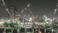 Time Lapse of Construction Site at Night video