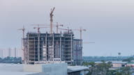 Time lapse of Construction Site in the city,Panning shot video