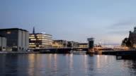 Time lapse of Copenhagen canal and bridge video