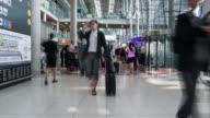 Time Lapse of Crowd walking at Airport terminal video