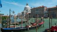 Time Lapse of Crowd with Gondola at Grand Canal, Venice video
