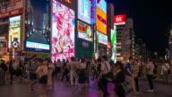 Time lapse of Dotonbori Osaka Japan video