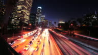 Time Lapse of Downtown Los Angeles - HD video video