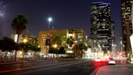 Time Lapse of Downtown Los Angeles video