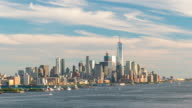 Time lapse of downtown New York City skyline video