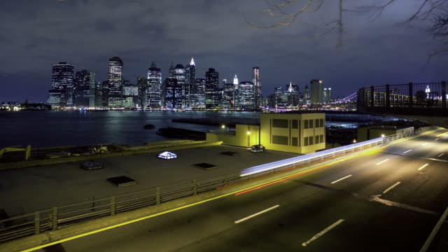 Time lapse of downtown NYC and highway video