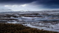 Time lapse of dramatic landscape in Iceland video