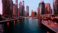Time lapse of Dubai Marina video