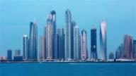 Time Lapse of Dubai skyline video