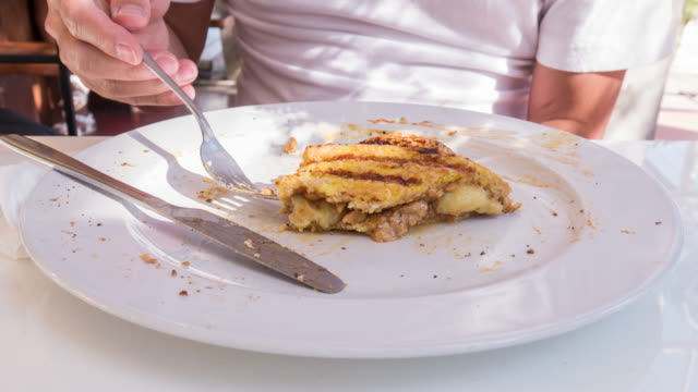 Time lapse of Eating French toast video