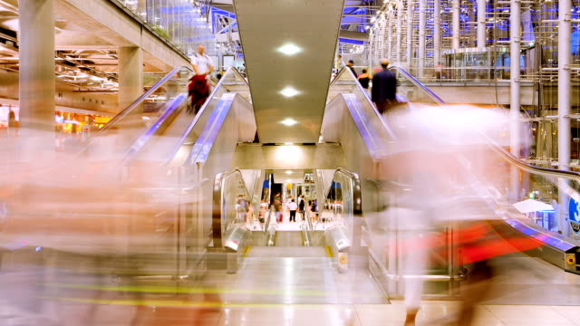Time lapse of escalators in Airport video