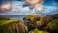 Time Lapse of Fanad Head Lighthouse in Ireland video