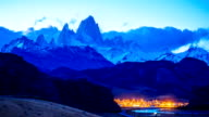 Time lapse of Fitz Roy at twilight video