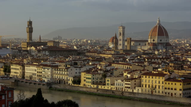 Time lapse of Florence old town, including cathedral/ Duomo in Italy video