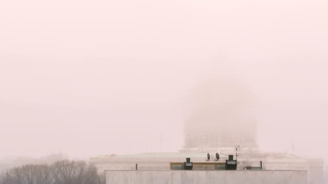 Time lapse of fog over the the United States Capitol building video