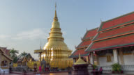 Time lapse of golden pagoda video