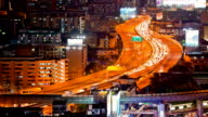 Time Lapse of Highway for Modern City Life Background video