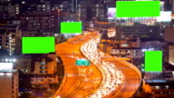 Time Lapse of Highway with green screen for editing video