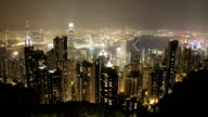 Time Lapse of Hong Kong island from Victoria Peak video