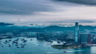 time lapse of hong kong skyline in daytime video