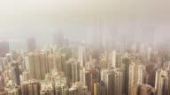 Time Lapse of Hong Kong skyline Victoria Peak. video