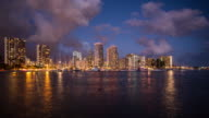 Time lapse of Honolulu downtown at night video