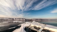 Time lapse of Ice hummocks on Baikal video