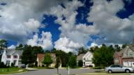 Time lapse of idyllic suburbs video