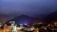 Time Lapse Of Interlaken Switzerland Night video