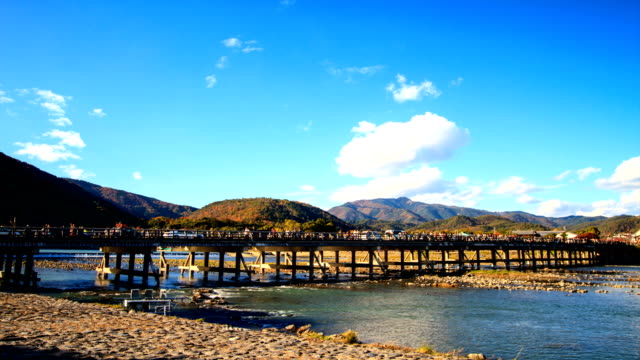 time lapse of japanese autumn fall, Arashiyama, Japan video