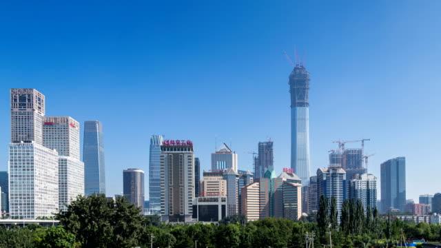 Time lapse of Jianwai SOHO,the beijing CBD skyline ,China video